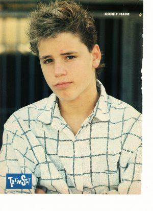 48d364066e5 Corey Haim Mackenzie Astin teen magazine pinup clipping dressed in white  80 s