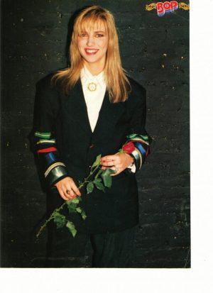 Debbie Gibson holding rose