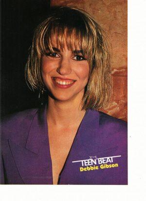 Debbie Gibson purple shirt bangs Teen Beat