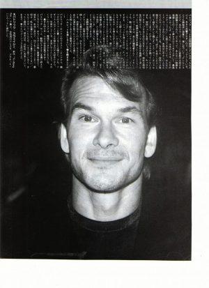 Patrick Swayze Japan close up 80's