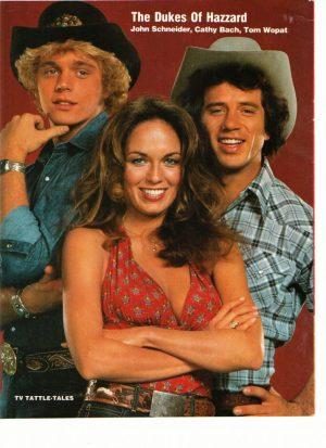 John Schneider Tom Wopat Cathy Back Dukes of Hazzard gang tv show 70's