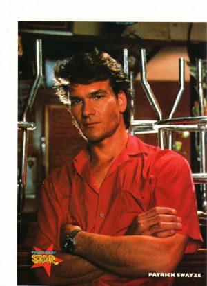 Patrick Swayze Star magazine red shirt diner