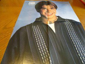 Matthew Lawrence dark blue zipper shirt