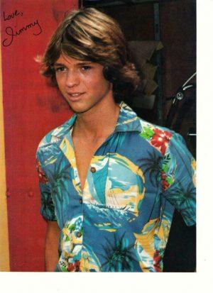 Jimmy Mcnichol teen magazine pinup clipping Teen Machine 1970's Hawaii