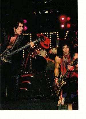 Kiss teen magazine pinup clipping Rockline lights