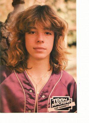Leif Garrrett purple shirt teen machine