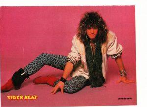 Jon Bon Jovi Julian Reyes teen magazine pinup clipping on the floor 1980's