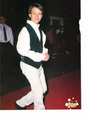 Edward Furlong teen magazine pinup clipping red carpet Bop black vest 90's