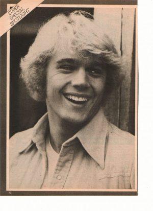 John Schneider teen magazine pinup clipping Sydney White The Rebound 70's