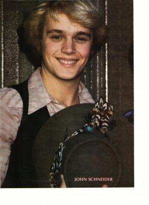 John Schneider teen magazine pinup clipping 70's The Dragon Unleashed Teen Beat