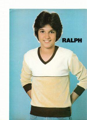 Ralph Macchio teen magazine pinup clipping 80's Teen Idol Superteen magazine