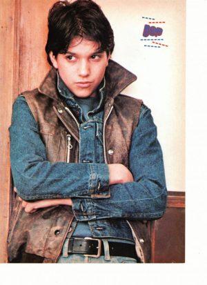 Ralph Macchio jean jacket crossed arms Bop
