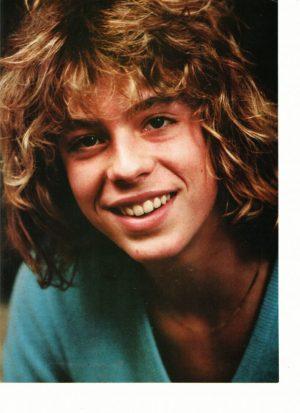 Leif Garrett close up blue shirt nice teeth 1970's Teen Beat
