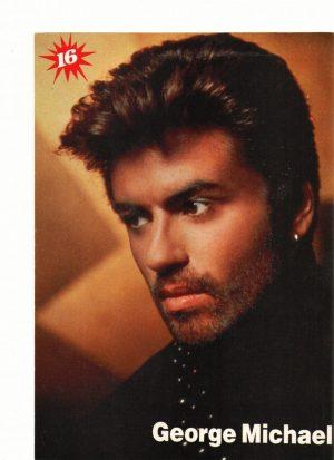 George Michael close up black shirt