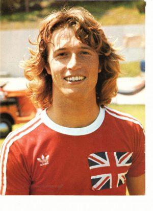 Andy Gibb soccer uniform
