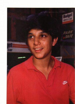 Ralph Macchio red Nike shirt