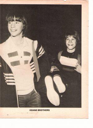 Keane Brothers Mark Shera teen magazine pinup 70's teen idols Teen Machine
