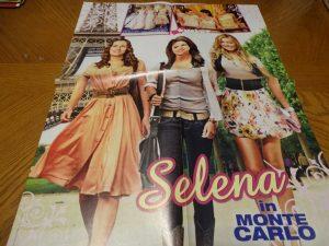 Selena Gomez teen magazine poster clipping In Monte Carlo Twist magazine