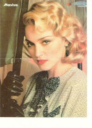 Madonna Mick Jagger teen magazine pinup clipping Japan Maviva magazine