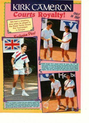 Kirk Cameron white shorts tennis