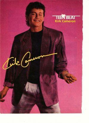 Kirk Cameron teen magazine pinup clipping purple jacket Teen Beat Growing Pains