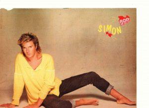 Duran Duran Simon Le Bon Kirk Cameron teen magazine pinup clipping barefoot Bop