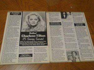 Charlene Tilton teen magazine pinup clipping Dallas Lucky Dog Deadly Bet
