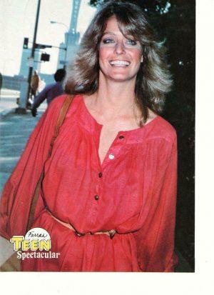 Farrah Fawcett Cheryl Ladd teen magazine pinup clipping Charlie's Angels 80's