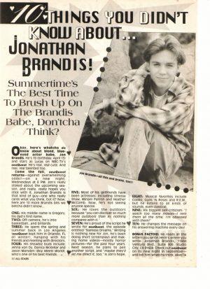 Jonathan Brandis Devon Sawa teen magazine clipping things you didn't know