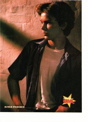 River Phoenix star magazine pinup