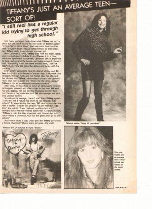 Tiffany Chad Allen teen magazine clipping average teen Teen Beat