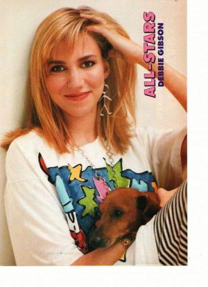 Debbie Gibson holding puppy