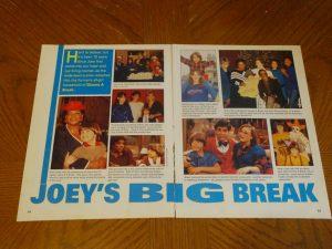 Joey Lawrence teen magazine clipping Joey's big break