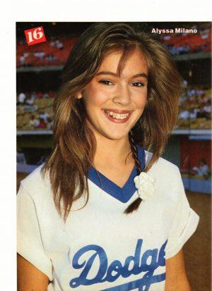 Alyssa Milano playing baseball