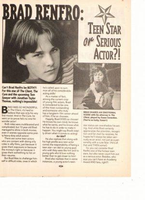 Brad Renfro teen stars actor Starz magazine