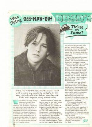 Brad Renfro Melissa Joan Hart teen magazine clipping odd man out Bop