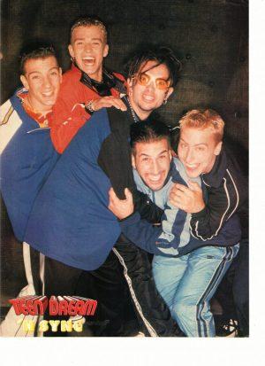 Nsync Lance Bass teen magazine pinup hugs boys I want you back Teen Dream
