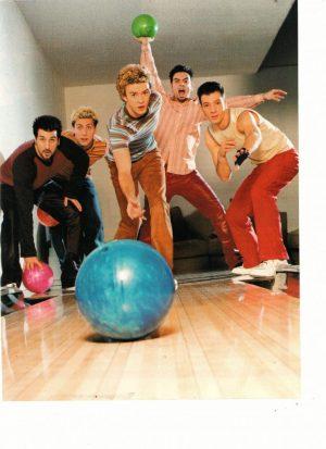 Nsync teen magazine pinup bowling teen idols