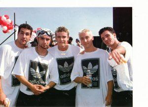 Nsync wearing Adidas shirts