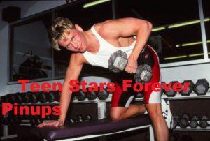 Jeremy Jordan lifting weights gym teen idol photo