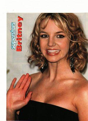 Britney Spears teen magazine pinup Superstars magazine waving at you