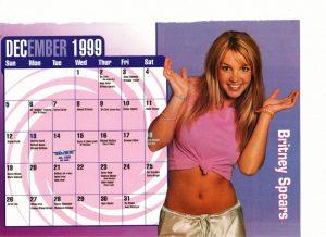 Britney Spears 199 calendar teen bet magazine