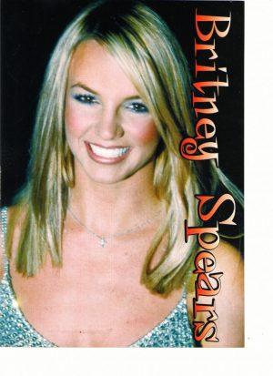 Britney Spears teen magazine pinup Teen Girl Power silver dress rare