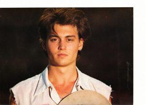 Johnny Depp teen magazine pinup close up 80's movie hunk