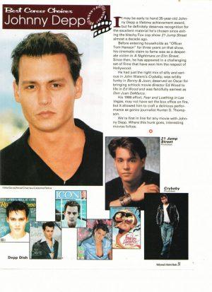 Johnny Depp magazine covers