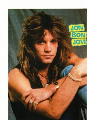 Jon Bon Jovi 80's rocker