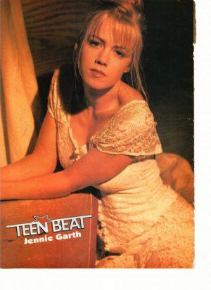 Jennie Garth teen magazine pinup at night white dress Teen Beat