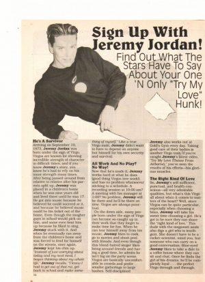 Jeremy Jordan teen magazine clipping love this hunk Superteen