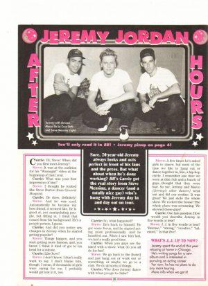 Jeremy Jordan teen magazine clipping hours Bop