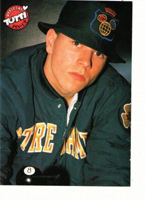 Marky Mark Wahlberg teen magazine pinup Tutti Frutti green jacket